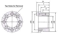 Power Lock KE Série Polegadas Dispositivo De Trava Sem Chaveta-2