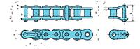 Nickel-Plated Feixe Simples De Transmissão Lambda® Correntes-2
