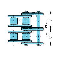 Nickel-Plated Feixe Duplo De Transmissão Lambda® Correntes-2