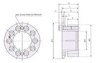 Power Lock AE Série Polegadas, Dispositivo De Trava Sem Chaveta-2