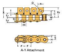 Corrente Transportadora Labda De Passo Simples Aditamento-A-1
