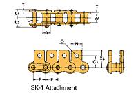 Corrente Transportadora Labda De Passo Simples Aditamento-SK-1