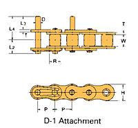 Corrente Transportadora Labda De Passo Simples Aditamento-D-1