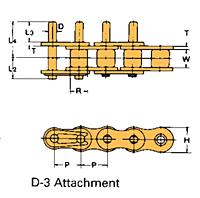 Corrente Transportadora Labda De Passo Simples Aditamento-D-3