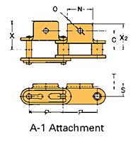 Corrente Transportadora Lambda De Passo Duplo Aditamento-A-1