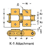 Corrente Transportadora Lambda De Passo Duplo Aditamento-K-1