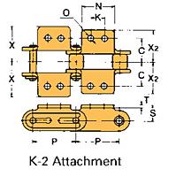 Corrente Transportadora Lambda De Passo Duplo Aditamento-K-2