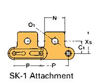 Corrente Transportadora Lambda De Passo Duplo Aditamento-SK-1