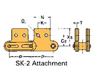 Corrente Transportadora Lambda De Passo Duplo Aditamento-SK-2