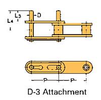 Corrente Transportadora Lambda De Passo Duplo Aditamento-D-3