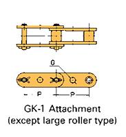 Corrente Transportadora Lambda De Passo Duplo Aditamento-GK-1