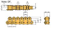Corrente Topo Roller Transportadora  LAMBDA® De Passo Duplo-2