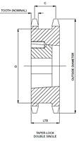 80 Duplo Simples TAPER-LOCK®-2