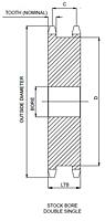 100 Duplo Simples Rodas Dentadas-2